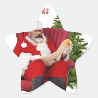 Sticker Étoile Karl Marx Père Noël
