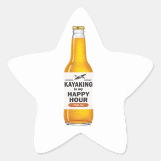 Sticker Étoile Kayaking est mon heure heureuse