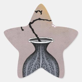 Sticker Étoile la lune élégante des fernandes et la fleur de 2