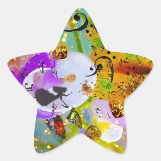 Sticker Étoile La musique peut exprimer tout et dire rien