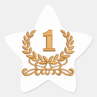 Sticker Étoile la première - imitation de la broderie de machine