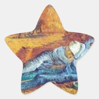 Sticker Étoile La Sieste de Vincent Van Gogh (Noon)