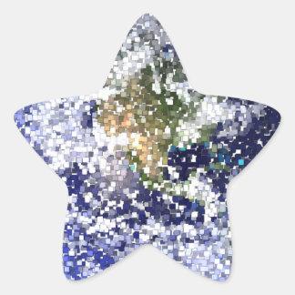 Sticker Étoile la terre de cube