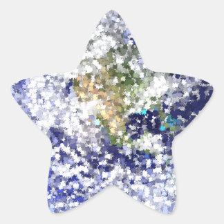 Sticker Étoile la terre de feuille