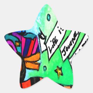 Sticker Étoile La vie est un voyage pas une destination