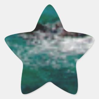 Sticker Étoile lagune avec des roches