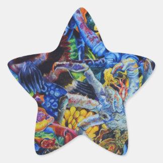Sticker Étoile Lagune de homard