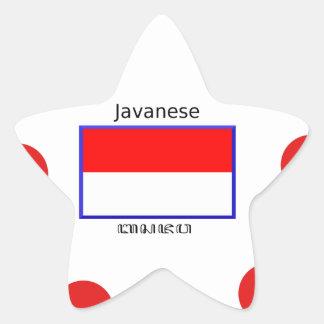 Sticker Étoile Langue de Javanese et conception indonésienne de