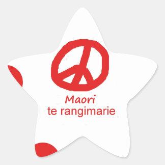 Sticker Étoile Langue et conception maories de symbole de paix