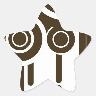 Sticker Étoile Le cercle vise l'égoutture