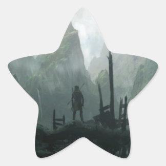 Sticker Étoile Le dernier guerrier du clan de montagne