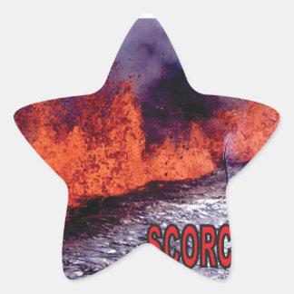Sticker Étoile le feu roussi