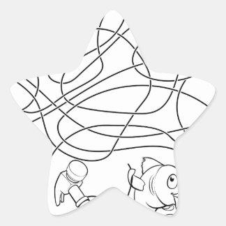 Sticker Étoile Le labyrinthe raye le jeu des enfants