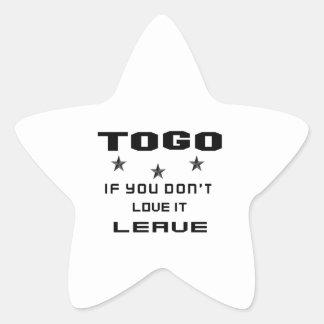 Sticker Étoile Le Togo si vous ne l'aimez pas, partent
