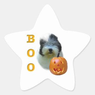 Sticker Étoile Le vieux chien de berger anglais Halloween huent