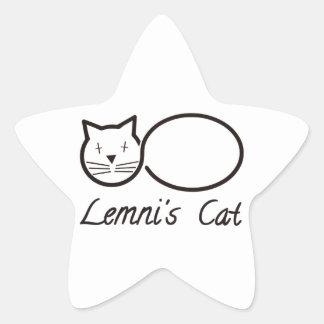 Sticker Étoile lemniscate le chat de lemni