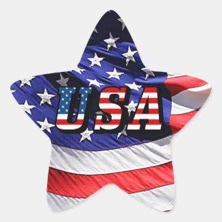 Sticker Étoile Les Etats-Unis - Drapeau américain