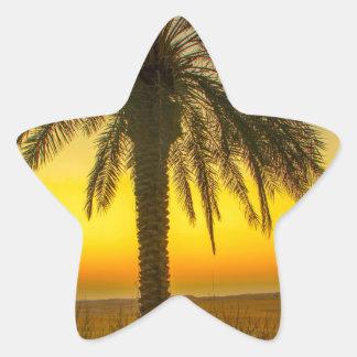Sticker Étoile Lever de soleil de palmier