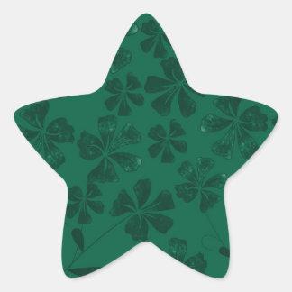 Sticker Étoile lflowers verts