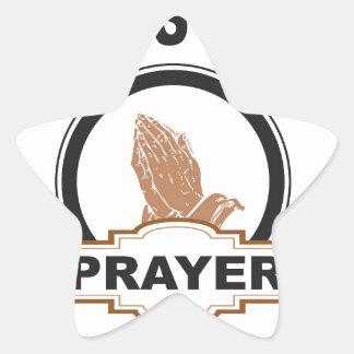 Sticker Étoile ligne prière de dieux