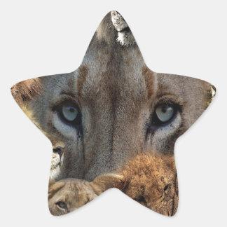 Sticker Étoile Lions heureux