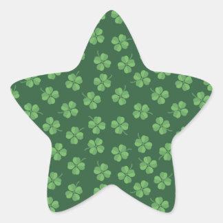 Sticker Étoile L'Irlandais celtique vert quatre a poussé des
