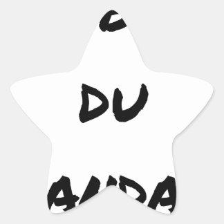 Sticker Étoile L'OBJET DU SCANDALE - Jeux de mots -Francois Ville
