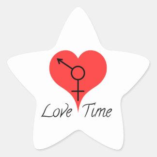 Sticker Étoile love time