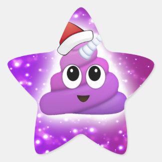 Sticker Étoile Lueur mignonne d'Emoji de dunette de licorne de