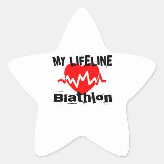 Sticker Étoile Ma ligne de vie biathlon folâtre des conceptions