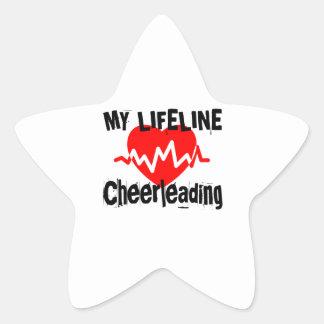 Sticker Étoile Ma ligne de vie conceptions Cheerleading de sports
