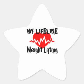 Sticker Étoile Ma ligne de vie haltérophilie folâtre des