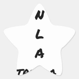 Sticker Étoile MA N L A CONTRE LA NSA - Jeux de mots