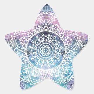 Sticker Étoile Mandala de galaxie