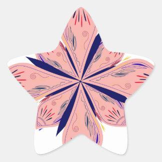 Sticker Étoile Mandalas d'or de rosé