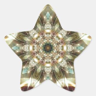 Sticker Étoile Mandalas du coeur du changement 10, articles de