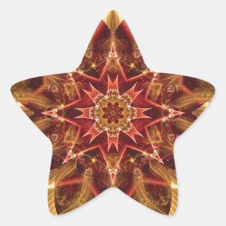 Sticker Étoile Mandalas du coeur du changement 15, articles de