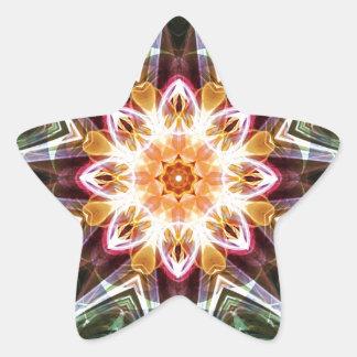 Sticker Étoile Mandalas du coeur du changement 5, articles de