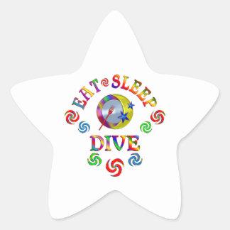 Sticker Étoile Mangez le piqué de sommeil