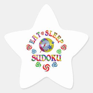 Sticker Étoile Mangez le sommeil Sudoku
