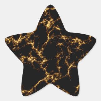 Sticker Étoile Marbre élégant style3 - or noir