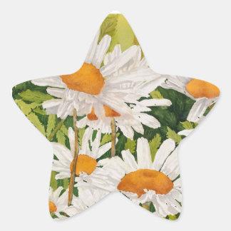 Sticker Étoile Marguerites blanches