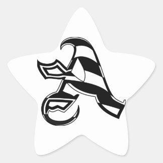 Sticker Étoile Marquez avec des lettres une conception