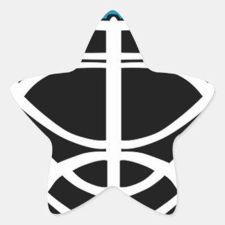 Sticker Étoile Masque d'hockey