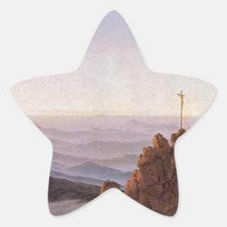 Sticker Étoile Matin dans Riesengebirge - Caspar David Friedrich