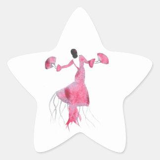 Sticker Étoile Méduses de flamenco - Sabrina