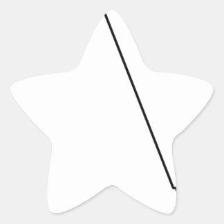 Sticker Étoile Microphone avec le fil