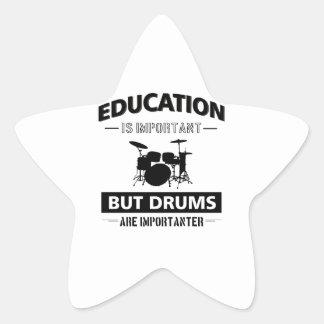 Sticker Étoile Mise en tambour drôle