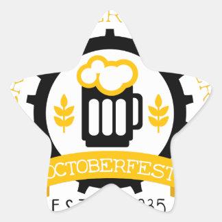 Sticker Étoile Modèle de conception de logo de bière avec la