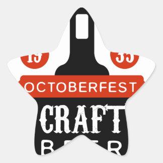 Sticker Étoile Modèle de conception de logo de bière de métier